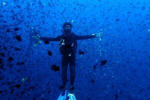 diving banda sea