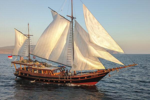 private yacht phinisi traditionnalwoodenboat woodensailingboat indonesia crusingindonesia