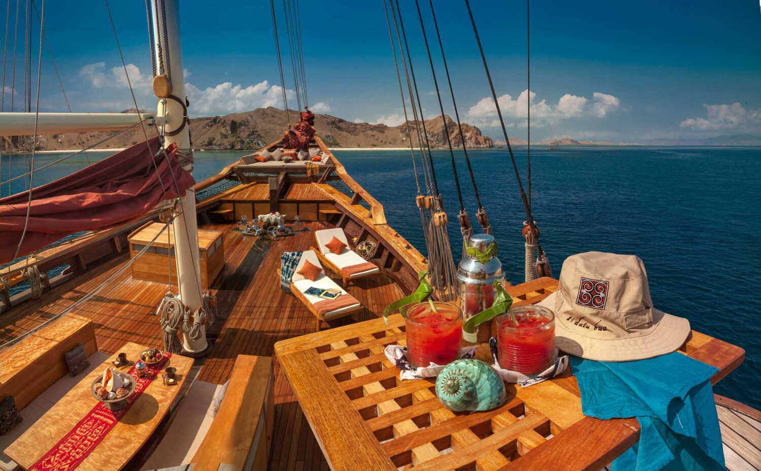 well being mocktail sundeck luxury yacht indonesia